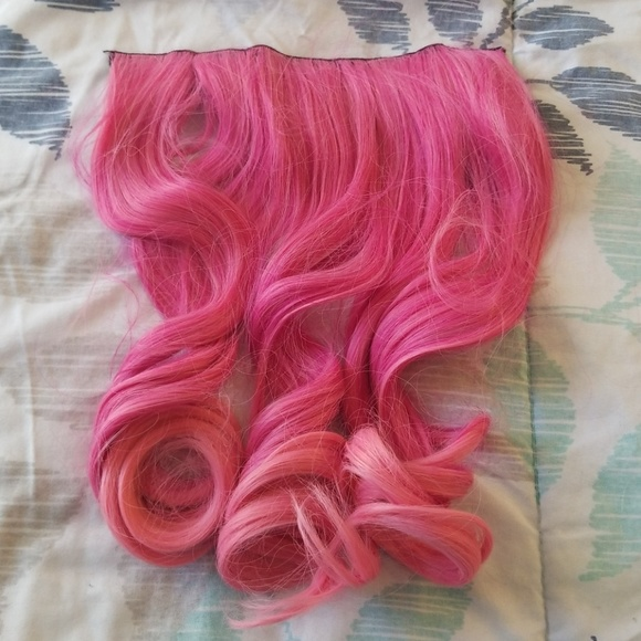 Accessories Bright Pink Clip In Hair Extensions Poshmark
